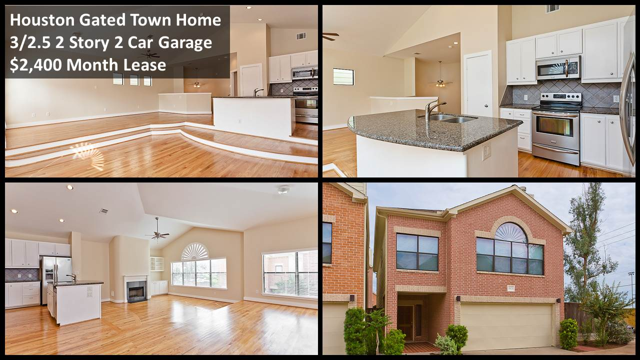 three bedroom townhomes houston gated 2 story town home for lease granite wood 13526